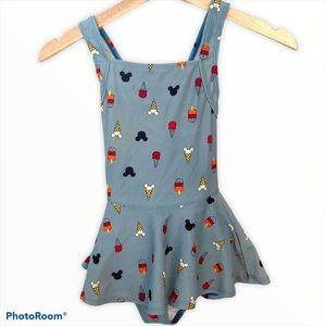 Hanna Andersson Mickey 130 shirted swimsuit one